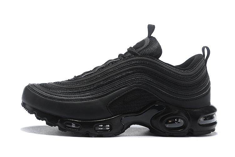 san francisco b238d d255e Fashion Nike Air Max 97 Plus TN Vingtage Running Shoes Men Fashion Black  Sports sneakers