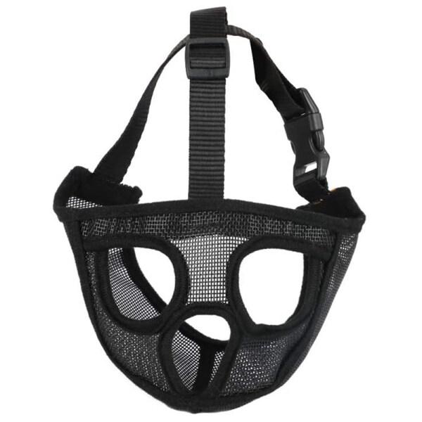 Short Snout Dog Muzzles- Adjustable Breathable Mesh Bulldog Muzzle for Biting Chewing Barking Training Dog Mask