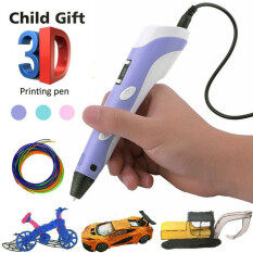 3D Pen Screen DIY 3D Printing Pen With ABS PLA Filament Creative Toy Gift 3 D Printer Pen Drawing For Kids Christmas Birthday