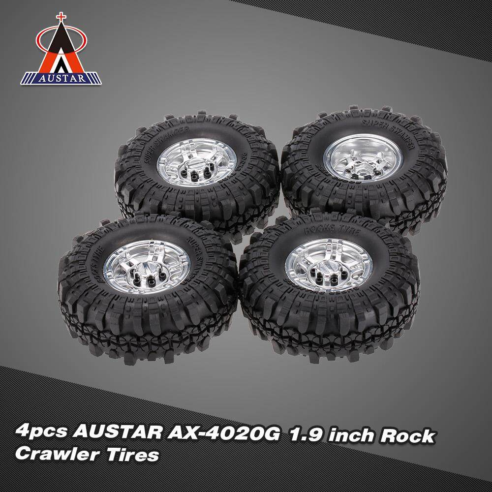 4pcs AUSTAR AX-4020F 1 9 inch 110mm Rock Crawler Tires with Solid Beadlock  Wheel Rim for 1/10 Traxxas AXIAL RC4WD TF2 RC Car