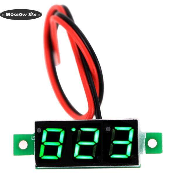 [Lowest price]Two Wire 0.28inch LCD Mini Digital DC Voltmeter Gauge Voltage Detector