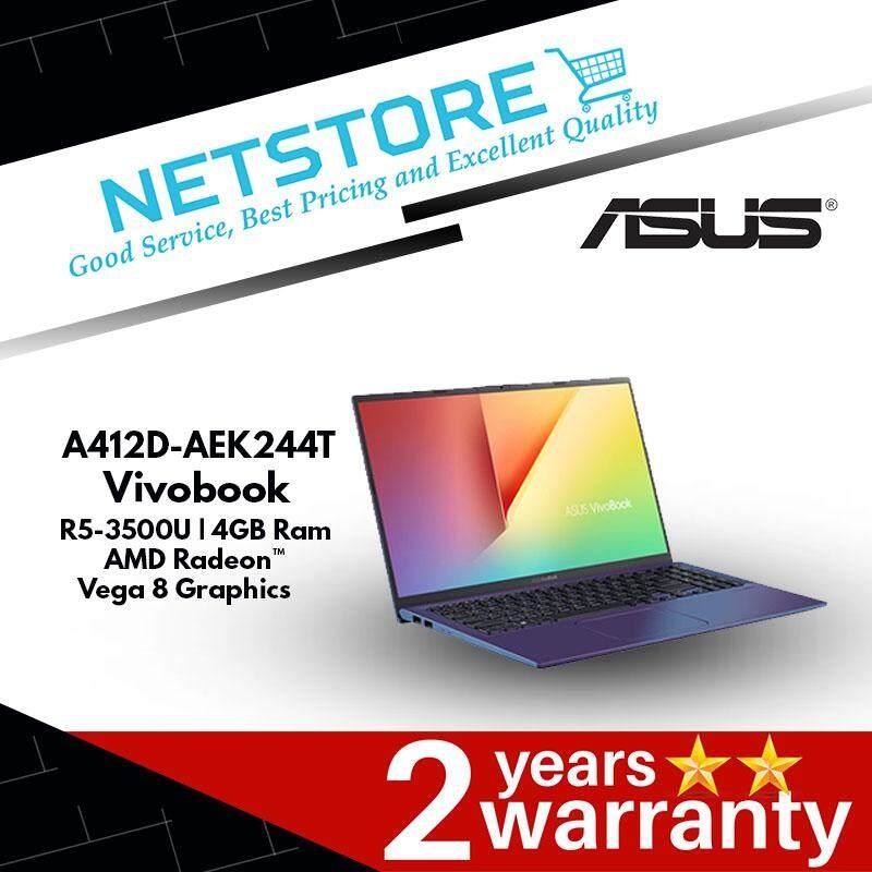 ASUS Vivobook A412D-AEK244T 14 FHD Laptop - R5-3500U   4GB