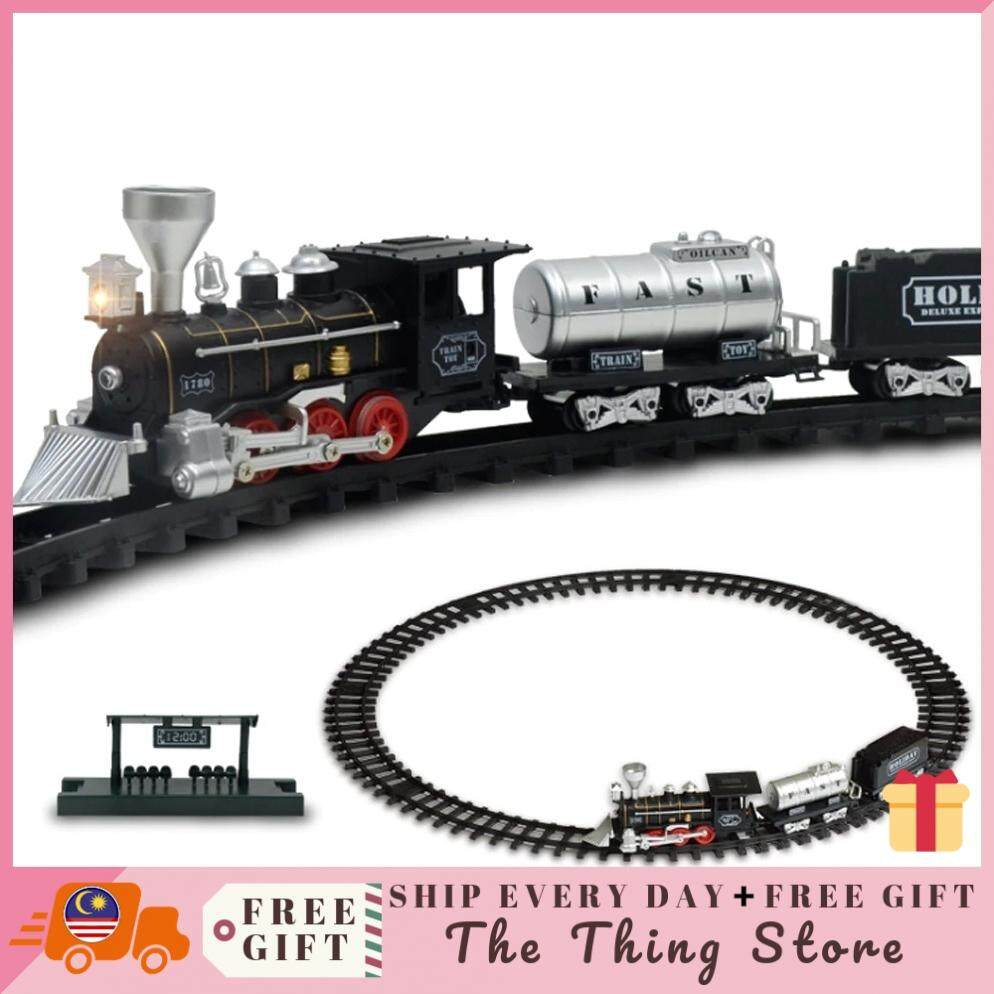 Baby Care Classical Track Train Retro Steam Train Electronic Toy With Sound  And Light - 6109 Toys for boys