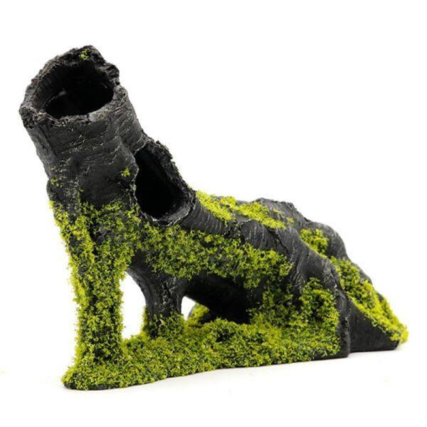 Rêu rễ bể cá bể cá cảnh quan trang trí nhà cổ điển nhựa Hideaway tôm nuôi giấu hang động nơi trú ẩn