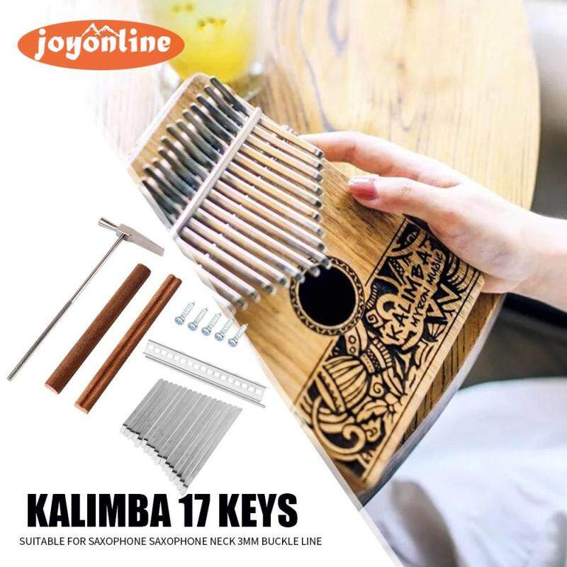 17-Key Kalimba Steel Key+Wood Bridge+Steel Tuning Hammer Musical Instrument Parts Malaysia