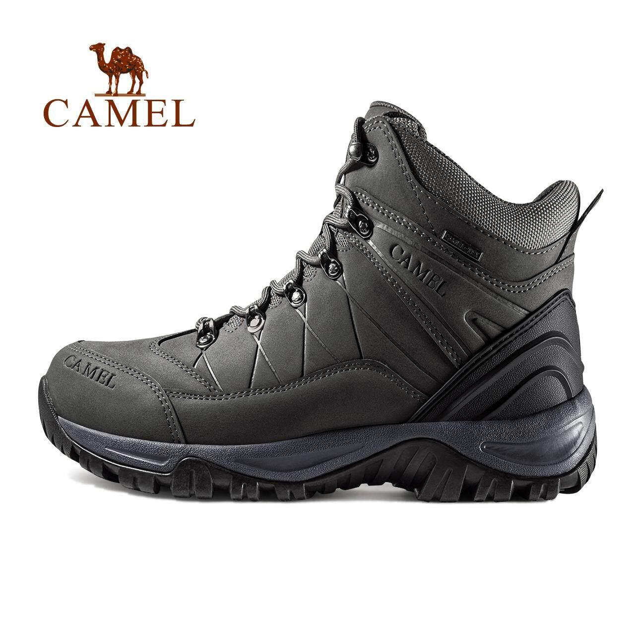 Unta Pria Tahan Air Hiking Sepatu Mendaki Bot Suede Termal Musim Dingin  Outdoor Mountain Sneakers Tinggi 6879b8b7b0