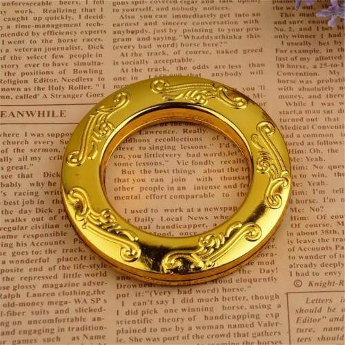 40pcs/80pcs PP Curtain Eyelet Ring Home Decor-Crafted Silver & Gold