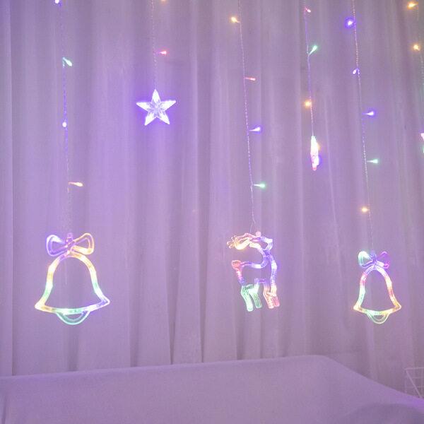 Bảng giá Đèn Rèm Mới 2021, Dây Đèn Trang Trí Nội Thất Đèn LED Mô Hình Nai Sừng Tấm Giáng Sinh, Dây Đèn Lồng Cá Tính Sáng Tạo