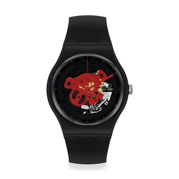 Swatch TIME TO RED BIG 41mm SO32B110 Malaysia