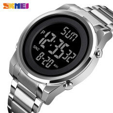 SKMEI Top Brand Luxury Men's Fashion Digital Watches Men LED Digital Stainless steel Waterproof Complete Calendar Chrono Wristwatch