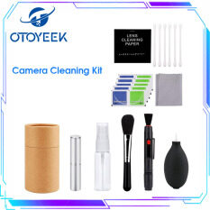 OTOYEEK Camera Cleaning Set Lens Cleaners Digital Camera Cleaning Kit Lens Cleaning Kit with Cleaning Cloth Cleaning Pen Lens Brush Air Blower Cleaning Set for DSLR Cameras and Sensitive Electronics