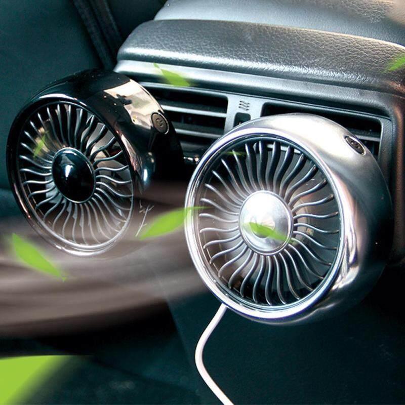 Điện Fan Hâm Mộ Xe Quạt Tuần Hoàn Không Khí Làm Mát Ô Tô Xoay 360 Độ Cho Xe Van SUV Xe Thuyền RV