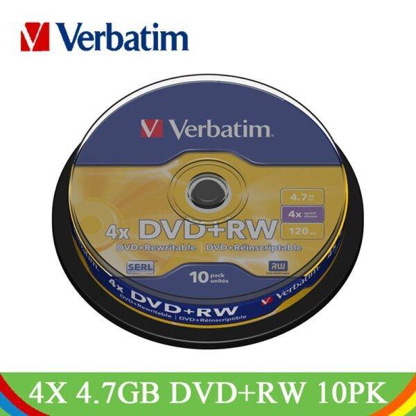 4X 4.7Gb Dvd+Rw Blank Disc 10Pk Spindle Lot Wholesale Original Branded Rewritable Disk Media Compact Data Storage Dvd