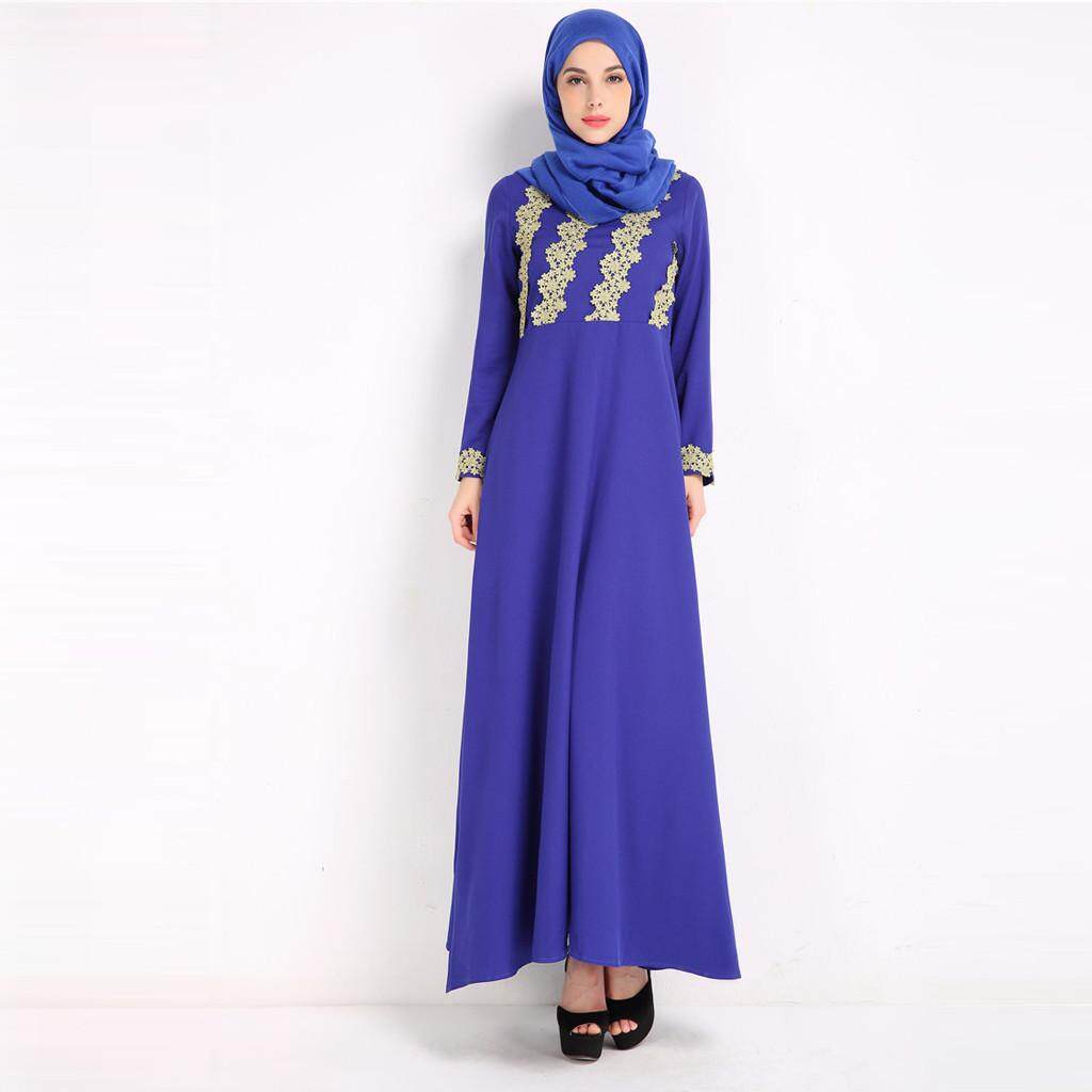 dfbbe16288c (Mintonstore) Factory Supply Women Embroidery Dress Casual Muslim Spring Abaya  Islamic Ramadan Robe Arab