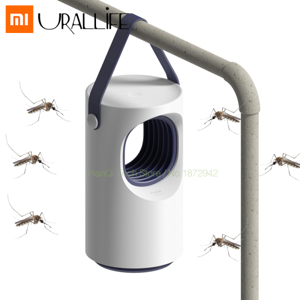 Xiaomi Mijia Urallife Purple Vortex Mosquito Killer Lamp Repellent Automatic USB Charging Electric Photocatalyst Mosquito Killer Low Mute Blue Portable Rechargable Mosquito Mosquito Dispeller LED Light Trap Lamp for Home Outdoor Garden