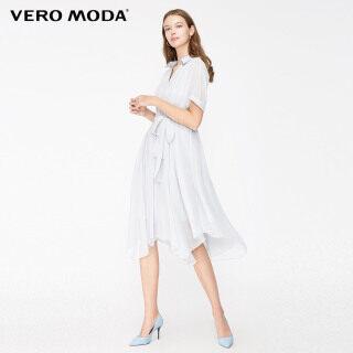 Vero Moda Đầm Nữ Tay Ngắn Kẻ Sọc Xuyên Thấu, 31937B519 thumbnail