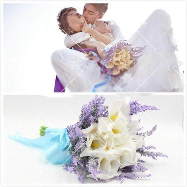 Wedding Dress Photographic Prop Boquet Holder Trip Shoot Korean Style Exterior Photo Purple White Boquet Holder Studio Filming Props
