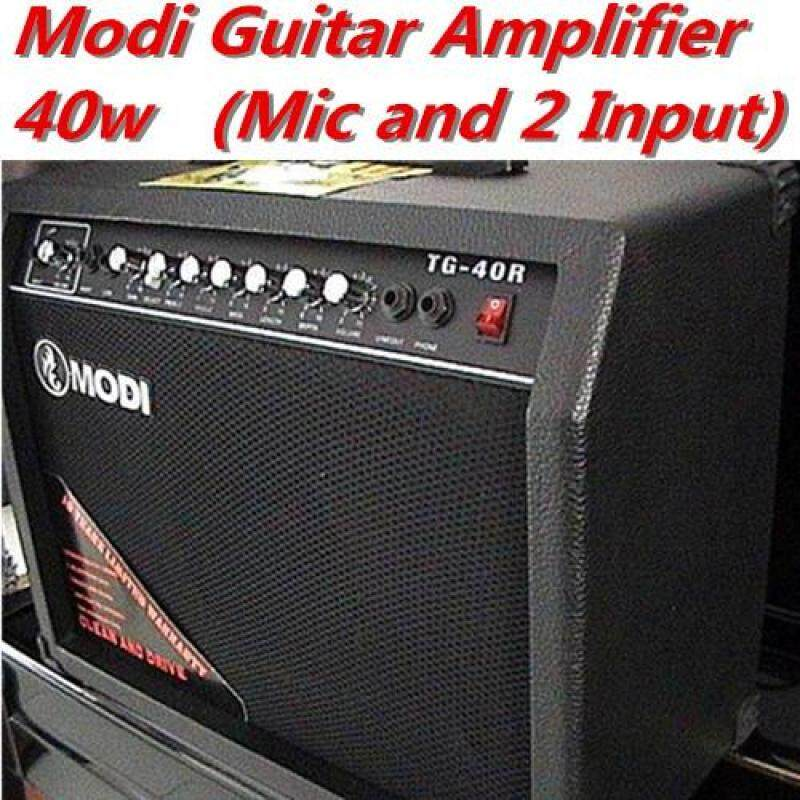 Modi Professional 40W Electric Guitar Amplifier Distortion 8 Speaker 2 Input Malaysia