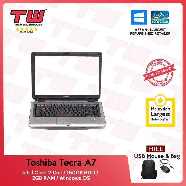 Toshiba Tecra A7 Core 2 Duo / 2GB RAM / 160GB HDD / Windows OS Laptop / 3 Months Warranty (Factory Refurbished) Malaysia