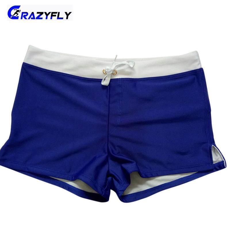 Crazyfly 1 Pcs ว่ายน้ำกางเกงชุดว่ายน้ำ Breathable ซิปกระเป๋าแฟชั่นสำหรับ Beach ว่ายน้ำ By Crazyfly.