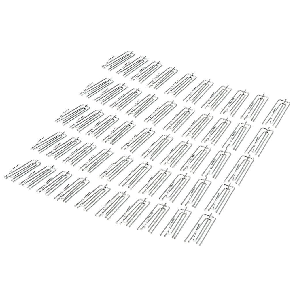 Perfk 50pcs/set Iron Shower Curtain Hooks Hanger Holder Rings