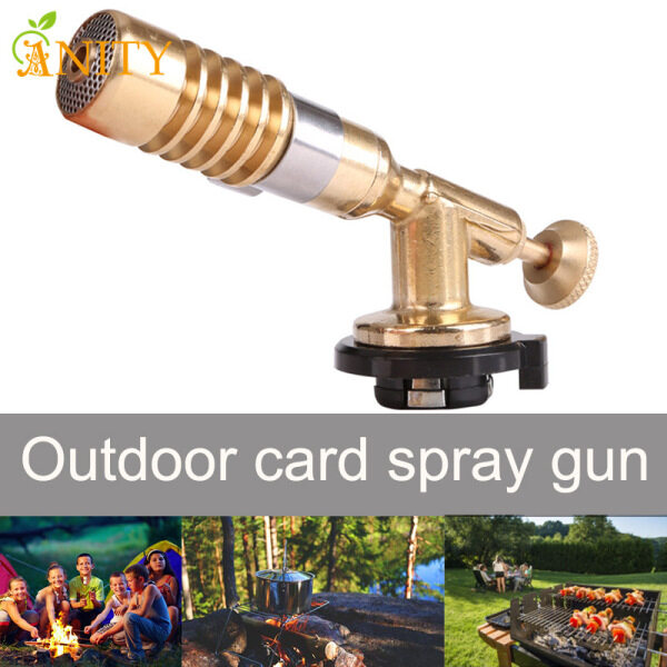 ANITY Gas Torch Flame Blowtorch Copper Flame Nozzle Heating Welding for Outdoor Camping Barbecue