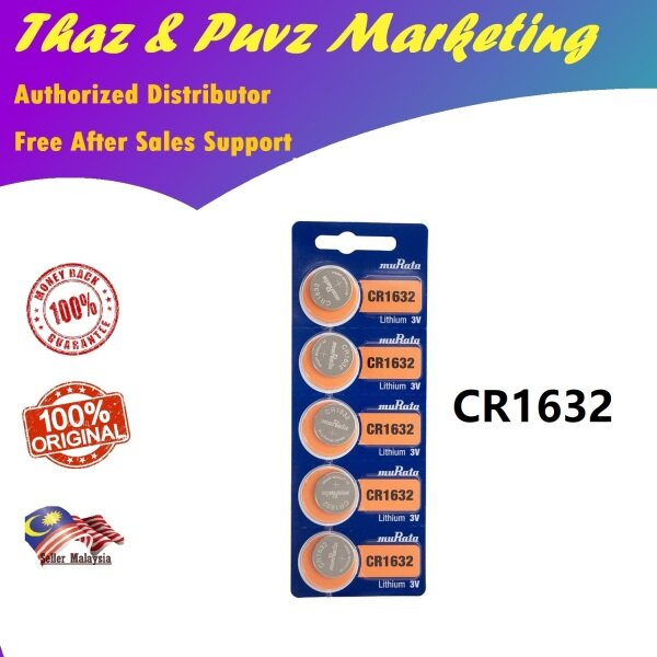 CR1632 Murata ( Sony ) 1 PC Lithium 3V Coin Watch Battery for Watches , Calculators , Thermometers and Electronic Devices