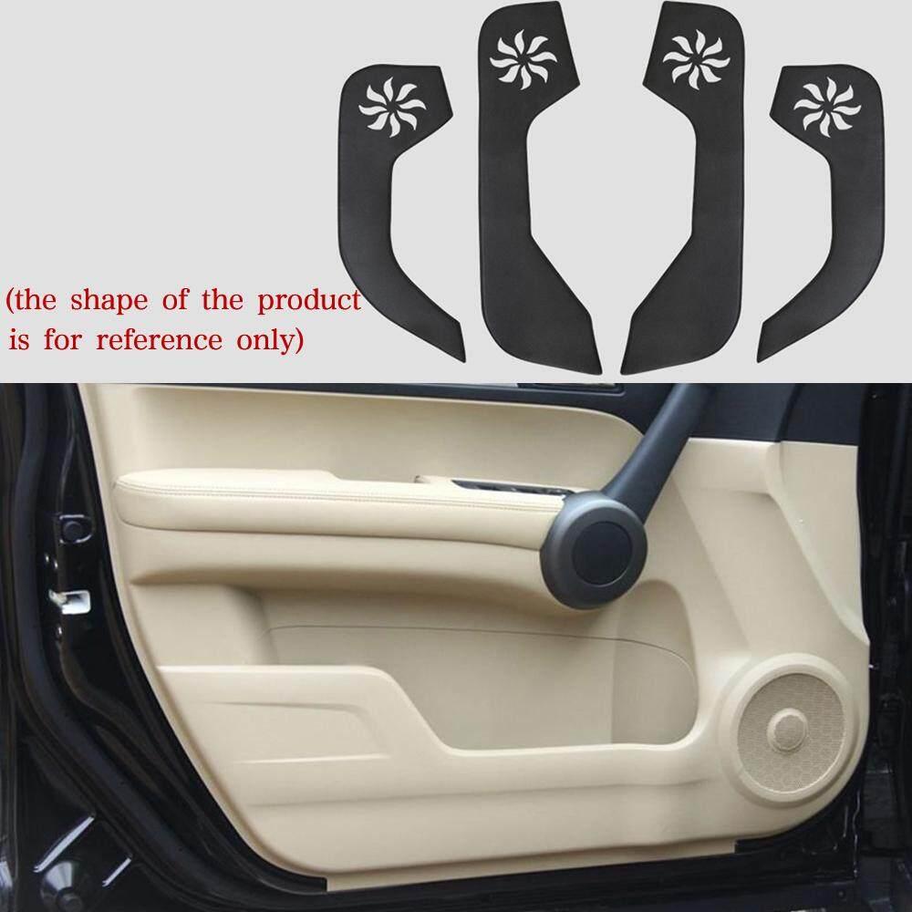 linkoko ft0186w Car Door Anti-Kick Mat,Auto Interior Accessories Door Protective Cover,Artificial Leather Full Set 4pcs For Honda CRV 2007 2008 2009 2010 2011(Black)