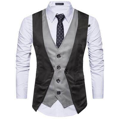 Áo Vest Đám Cưới Công Sở Cho Nam Mới, Áo Ba Lỗ Giả Mỏng Có Khóa Cài Bốn Nút Thường Ngày Hai Hàng Khuy N9020