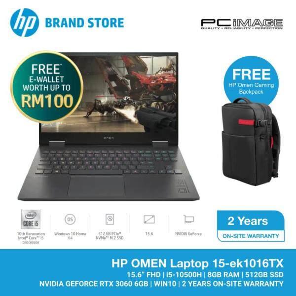 HP Omen 15-EK1016TX 15.6 Gaming Laptop/Notebook (Intel Core i5-10500H, 8GB, 512GB, RTX 3060, W10) - Black Malaysia
