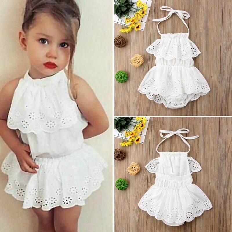 080dfc407b0 0-24m Toddler Infant Baby Clothes Newborn Girls Cotton Bodysuit Lace  Sunsuit Outfits Clothes Summer