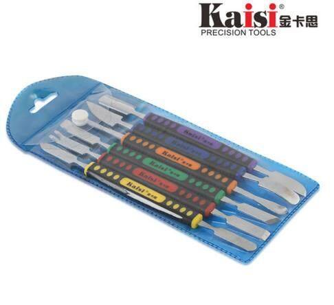 Kaisi 6pcs Dual Ends Metal Spudger Set for iPhone iPad Tablet Mobile Phone Prying Opening Repair Tool Kit