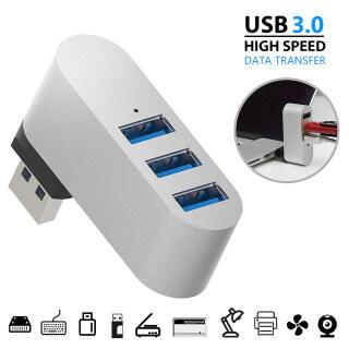 1 X USB Hub Hợp Kim Nhôm Xoay USB HUB 3 Cổng USB 3.0 Mở Rộng Bộ Truyền Dữ Liệu Tốc Độ Cao Bộ Chuyển Đổi Hộp Cho PC Laptop thumbnail