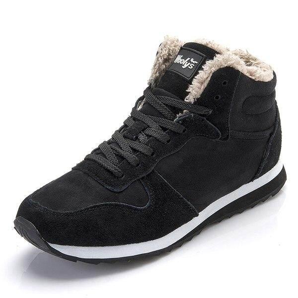 หิมะฤดูหนาวรองเท้าผู้ชาย Lace - Up สไตล์รองเท้าผ้าใบแฟชั่นสบายๆลื่นรักษาความอบอุ่นเยาวชนบูททำจากฝ้าย Hh-094 By Chhuist.