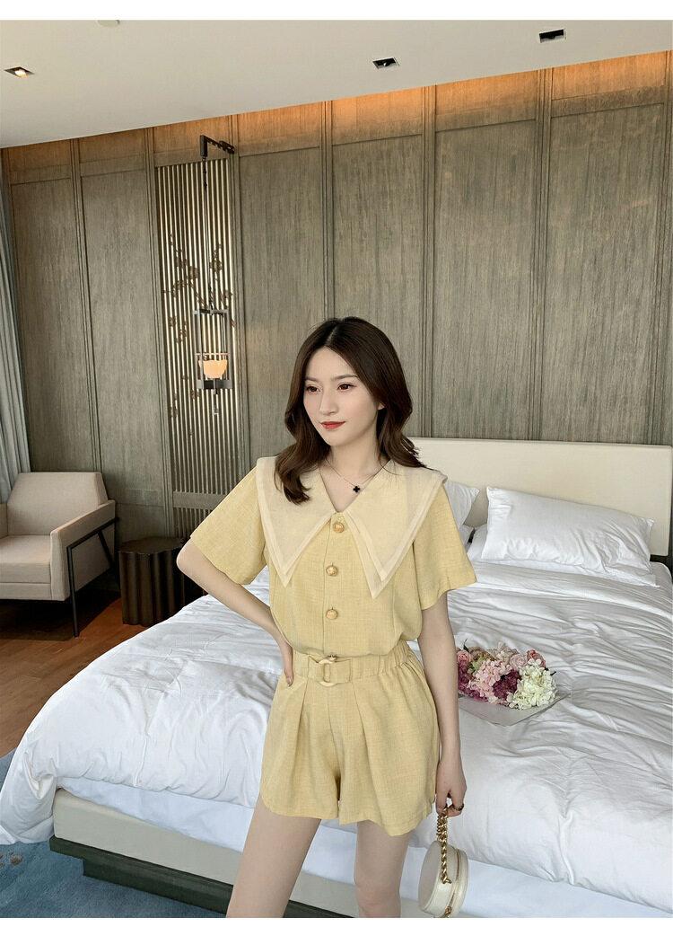 ฤดูร้อนใหม่แฟชั่นเกาหลีระดับไฮเอนด์หลวมชุดสตรีสบายๆ