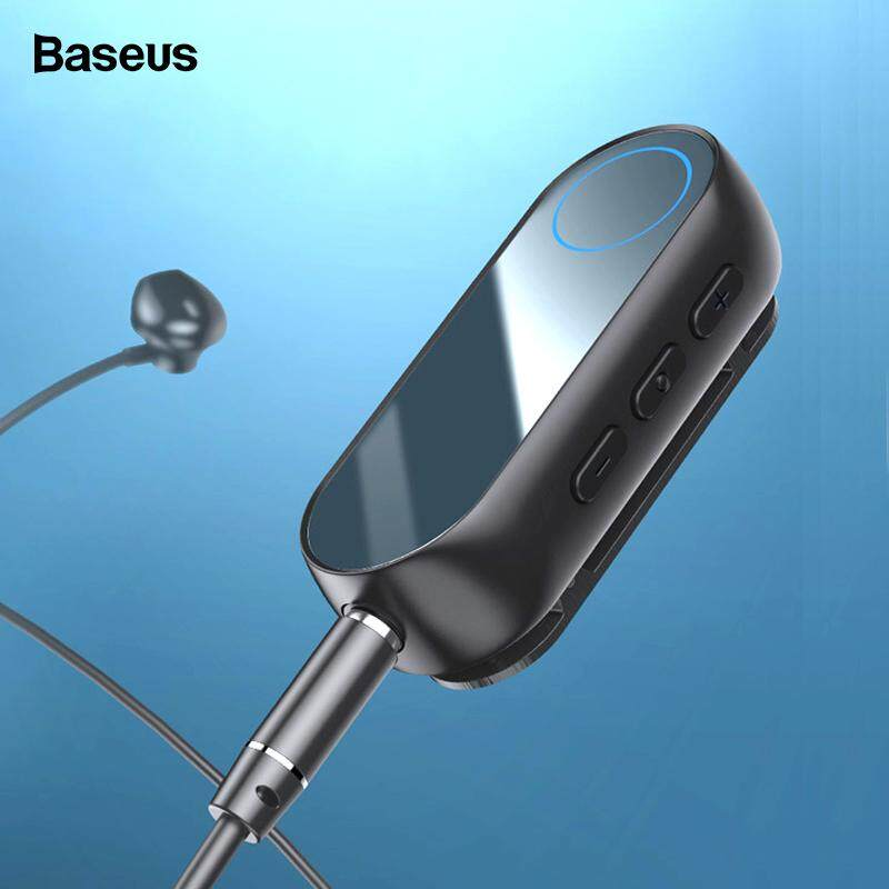 Baseus Bluetooth Receiver for Earphone Headphone Speaker Wireless Bluetooth 5.0 Adapter for 3.5mm Aux Bluetooth Audio receiver-Black