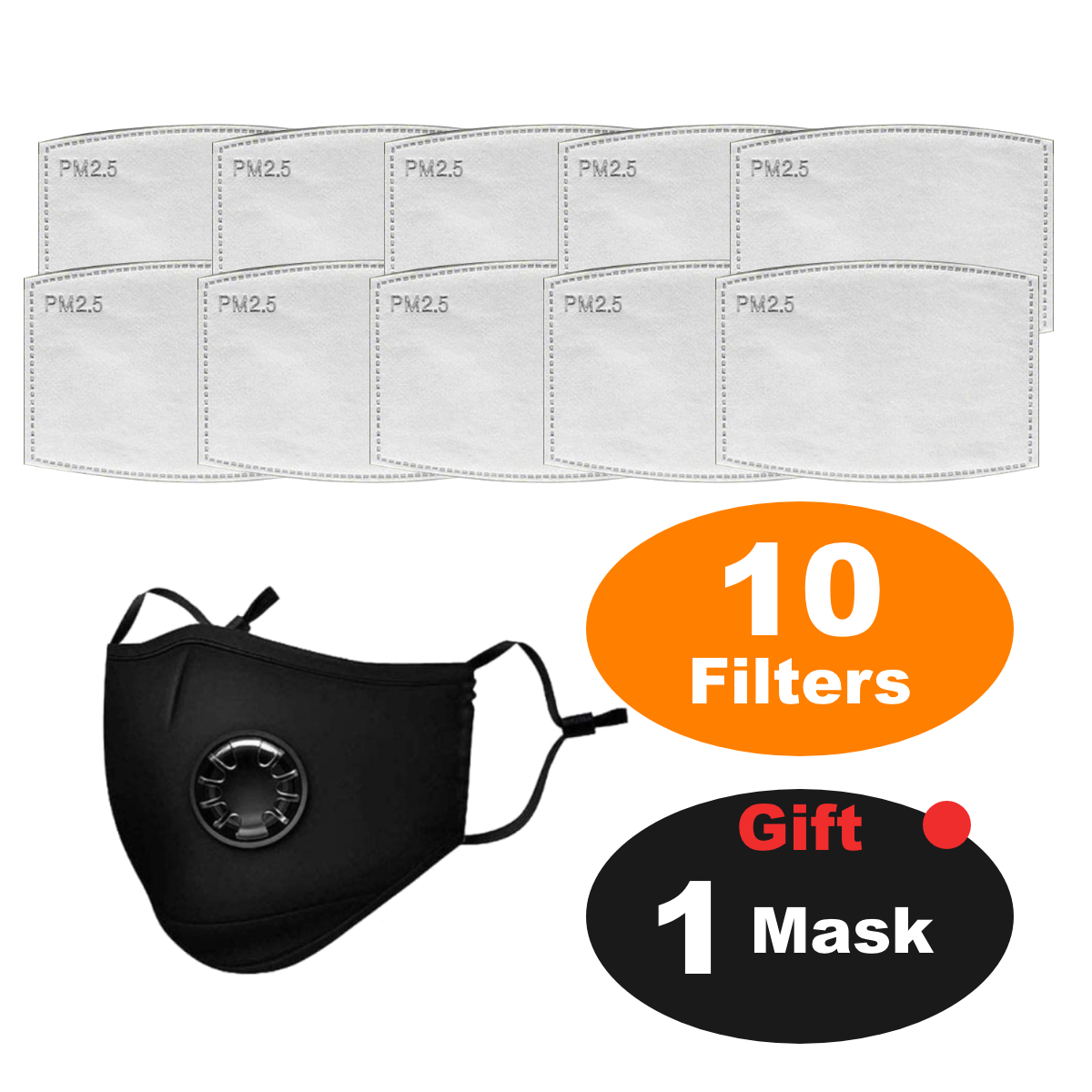VITAENEN 10Pieces +1,Filter boxed dust-proof haze pm2. 5,Can be exchanged for filter adult filter core,Activated Carbon Filter Face cover Breathing Insert Anti Haze Mouth cover Filters