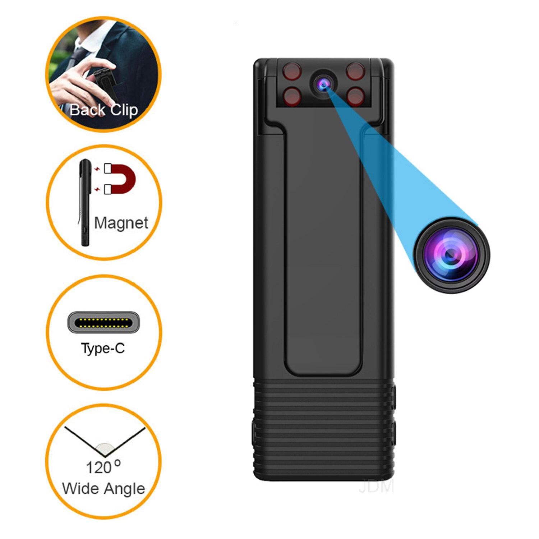 Camera Mini JDM HD 1080P, Máy Quay Video Kỹ Thuật Số Cầm Tay Máy Ảnh Cơ Thể, Tầm Nhìn Ban Đêm Ghi Thu Nhỏ Nam Châm Máy Quay Phim
