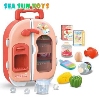 Đồ Chơi Tủ Lạnh Cho Trẻ Em SEA & SUN Trẻ Em Mô Phỏng Tủ Lạnh Đồ Chơi Nhà Bếp, Bộ Đồ Chơi Giả Vờ, Trẻ Em Chơi Nhà Cô Gái Đồ Chơi Quà Tặng thumbnail