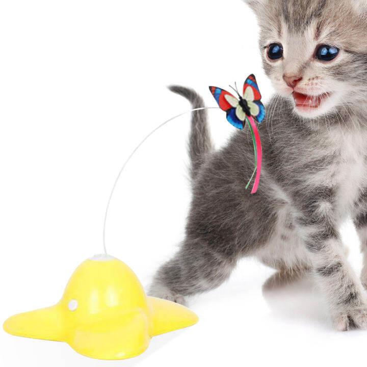 Mainan Interaktif Kucing Mainan Kucing Mainan Mainan Kucing Burung Elektrik Berputar 360 Dalaman Teaser Toy Lazada