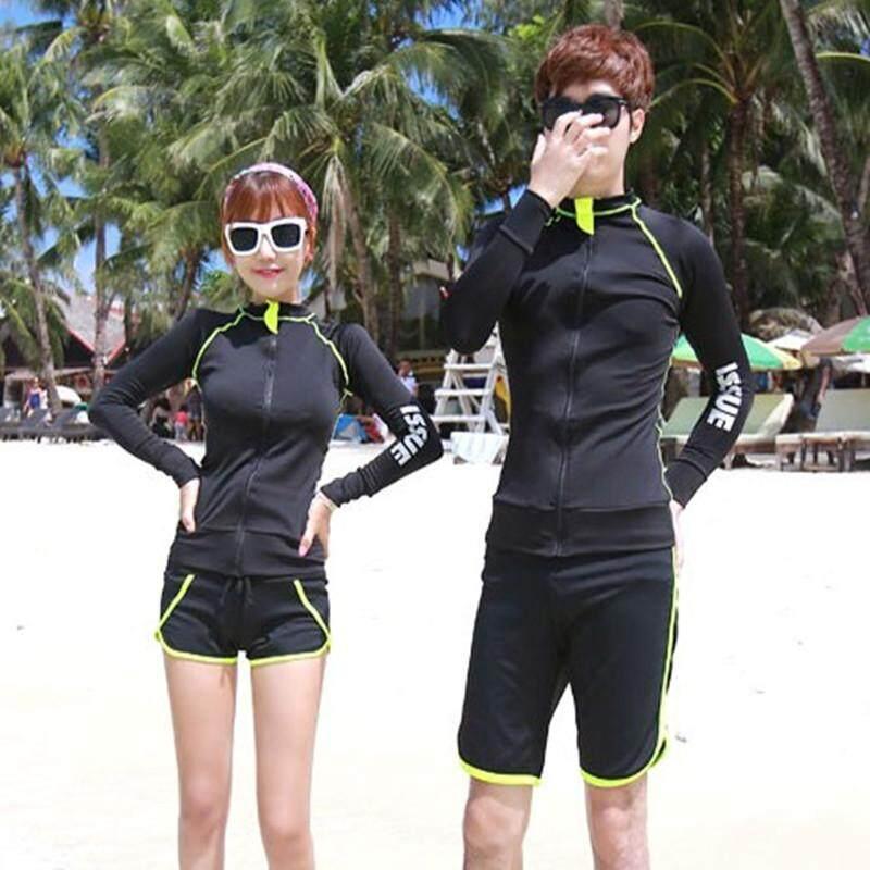 Image 5 for แห้งเร็วผู้ชายผู้หญิงแขนยาว Rash Guards ดำน้ำเสื้อดำน้ำดูปะการังป้องกันแสงแดด UV โต้คลื่นว่ายน้ำเสื้อแมงกะพรุน