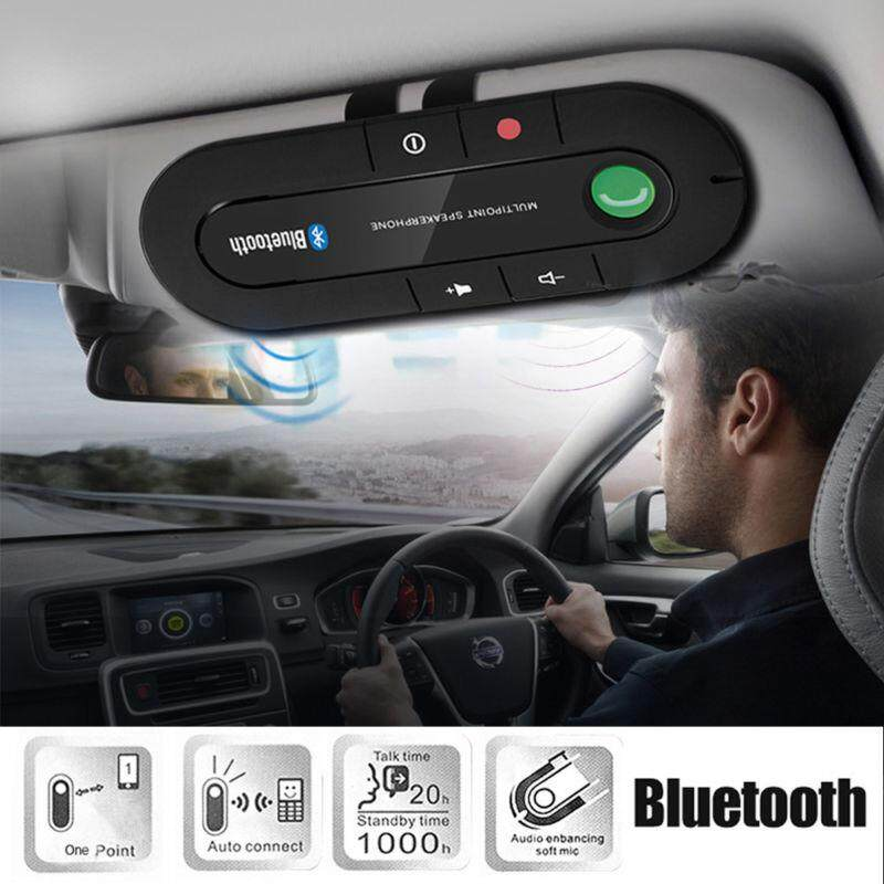 Wireless Bluetooth Handsfree Car Speakerphone Kit Speaker Phone Visor Clip