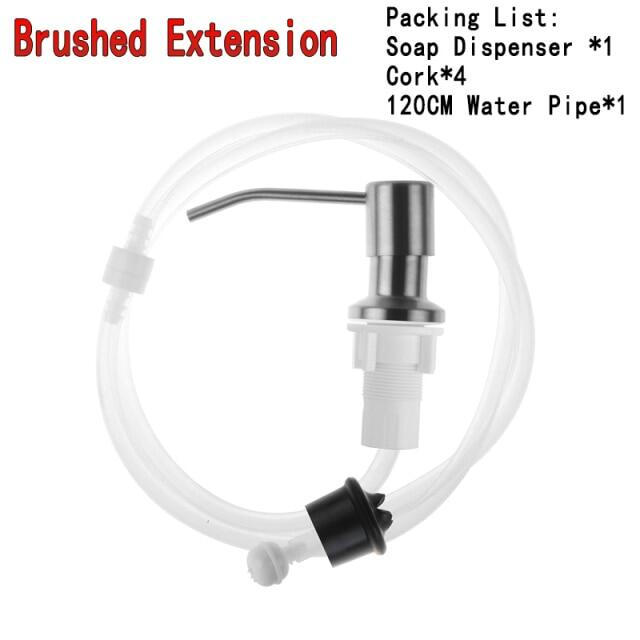 47 Inch Sink Soap With Extension Tube Kit Bottle Replacement For Kitchen Sink Metal Under Deck Counter In Sink Mounted
