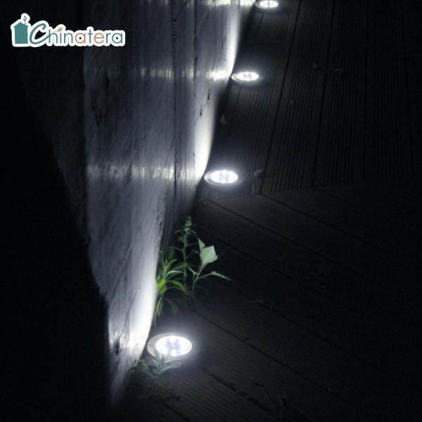 [Chinatera] 1 PC 8 Đèn LED Dưới Lòng Đất Năng Lượng Mặt Trời Đèn Chìm Ngoài Trời Không Thấm Nước Đèn Mặt Đất Nhúng Cho Sân Vườn Bậc Cầu Thang Đường