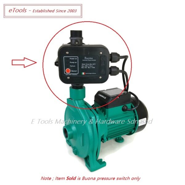 BUONA LS-1 AUTOMATIC PUMP CONTROL - FOR WATER PUMP BELOW 1.5HP ( 1.1 kW )