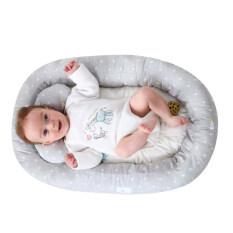 [Hàng quốc tế | Lưu ý thời gian giao hàng dự kiến]Giường cũi Insular vải cotton an toàn và thiết kế gấp tiện dụng công nghệ bionic sáng tạo bảo vệ giấc ngủ cho trẻ sơ sinh 0-1 tuổi – INTL