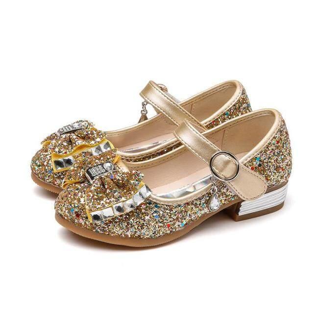 Giày Công Chúa Cho Bé Gái, Giày Cao Gót Nhỏ Phong Cách Hàn Quốc Thời Trang Mới giá rẻ