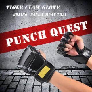 [[Hosport] Vật Lộn Găng Tay MMA Lộ Nửa Ngón PU Huấn Luyện Đấm Túi Boxing Sparring Gloves thumbnail