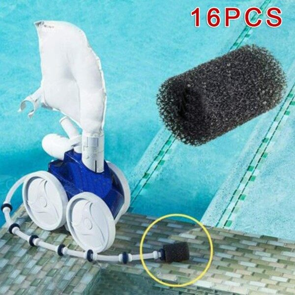 8*4*2cm 16-piece Swimming Pool Cleaner Replacement Sponge Cleaning Cotton