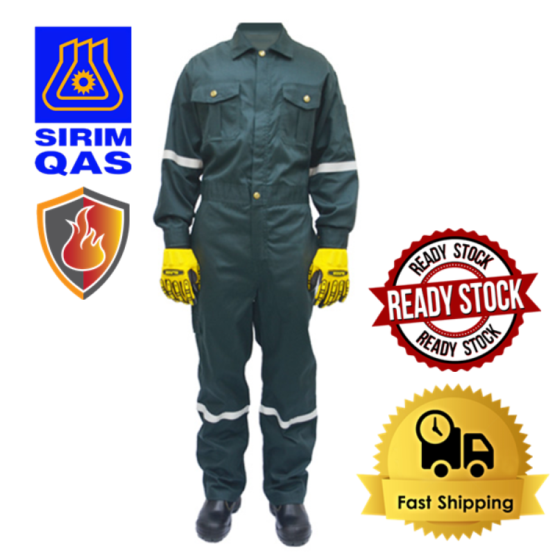 【Ready Stock Malaysia】 VULCAN Safety Fire Flame Resistant Retardant Coverall Clothing Overall